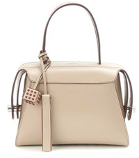 Tod's Twist Small Leather Tote Beige