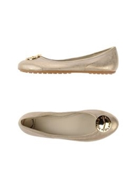 Voile Blanche Ballet Flats Gold