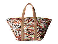 M Missoni Mermaid Print Tote Coral Tote Handbags