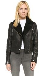 Paige Ronney Shearling Jacket Black
