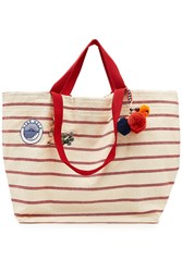 Star Mela Tami Large Striped Cotton Tote Stripes