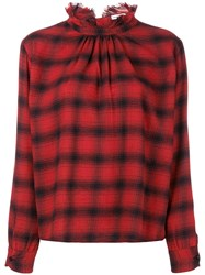 Officine Generale Sofia Japanese Cotton Shirt Red