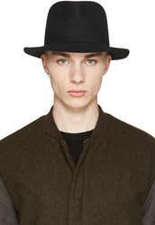 Rag And Bone Black Wool Hackman Fedora