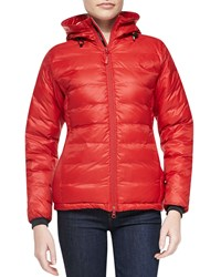 Canada Goose Camp Hooded Packable Puffer Coat Red