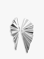 Dyrberg Kern Plisea Statement Drop Earrings Silver