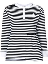 Peter Jensen Striped Knitted Top Black