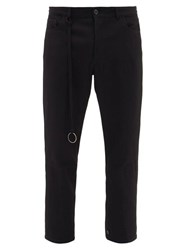 Ann Demeulemeester Ribbon Fleecewool Blend Trousers Black