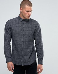 Selected Homme Flannel Check Shirt Grey