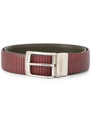 Canali Leather Belt Red