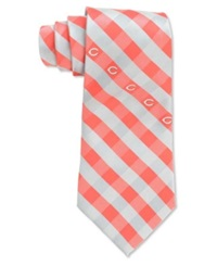 Eagles Wings Cincinnati Reds Checked Tie