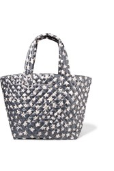 M Z Wallace Mz Metro Printed Quilted Shell Tote Dark Gray