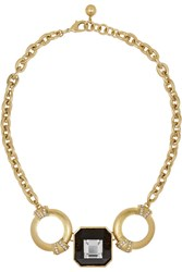 Lulu Frost Cosmic Gold Tone Crystal Necklace Metallic