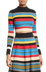 Tracy Reese Women's Stripe Crop Top