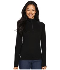 Smartwool Phd Ultra Light Zip Top Black Women's Long Sleeve Pullover