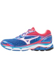 Mizuno Wave Inspire 13 Stabilty Running Shoes Strong Blue White Diva Pink