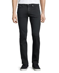 7 For All Mankind Luxe Performance Slimmy Denim Jeans Dark Gray