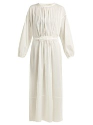 Matteau The Long Sleeve Split Cotton Dress White