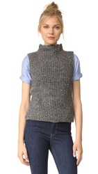 Madewell Donegal Madison Sleeveless Pullover Donegal Blackbird