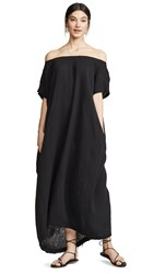 9Seed Moonstone Off Shoulder Caftan Black
