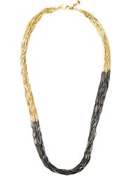 Iosselliani 'Black Hole Sun' Long Necklace Metallic
