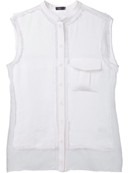 Joseph Contrasting Panels Sleeveless Shirt