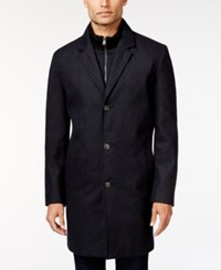 Tommy Hilfiger Bruce Slim Fit Overcoat Charcoal
