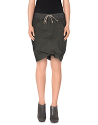 Drkshdw By Rick Owens Mini Skirts Military Green