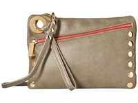 Hammitt Nash Pewter Gold Red Zip Handbags Brown