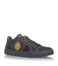 Billionaire Crest Low Top Sneakers Male Dark Grey