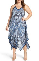 Nic Zoe Plus Size Women's Calypso Handkerchief Hem Sundress Multi