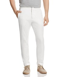 Canali Stretch Regular Fit Chinos White