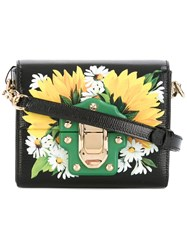 Dolce And Gabbana Mini Lucia Shoulder Bag Women Leather One Size Black