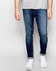 Selected Homme Jeans In Skinny Fit Dk.Blue