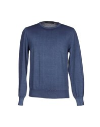 Andrea Morando Knitwear Jumpers Men Dark Blue