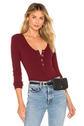 Privacy Please Mackenzie Bodysuit Burgundy