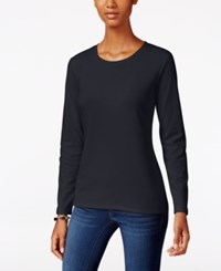 Styleandco. Style Co. Crew Neck Top Only At Macy's Dark Grape