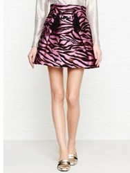 Kenzo Tiger Stripes Jacquard Skater Skirt Pink