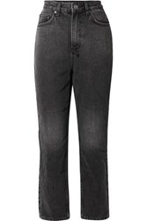 Ksubi Chlo Wasted High Rise Straight Leg Jeans Charcoal