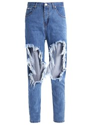 Glamorous Relaxed Fit Jeans Mid Blue Blue Denim