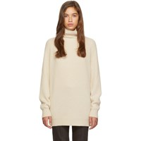 Max Mara Off White Disco Turtleneck