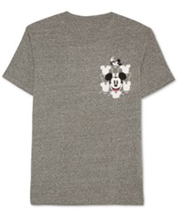 Jem Men's Mickey Mouse Graphic Print Pocket T Shirt Charcoal Heather