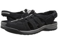 Drew Shoe Element Black Nubuck Women's Sandals