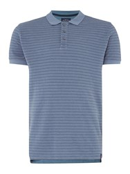 Criminal Men's Ryder Stripe Pique Polo Grey