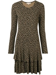 Michael Michael Kors Leopard Print Shift Dress Nude And Neutrals