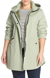 Plus Size Women's Kristen Blake Crossdye Hooded Soft Shell Jacket Tea