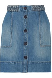 Joie Sorren Denim Mini Skirt Mid Denim