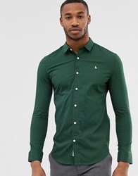 Jack Wills Hinton Stretch Skinny Fit Shirt In Green