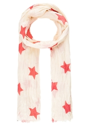 Pepe Jeans Newstar Scarf Neon Coral White