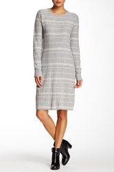Cullen Plaid Cashmere Sweater Dress Gray
