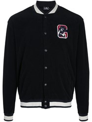 Hysteric Glamour Contrast Trimmed Bomber Jacket Cotton Black